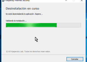 Cómo desinstalar el antivirus Kaspersky Internet Security – Multidispositivos 2016 en Windows 10