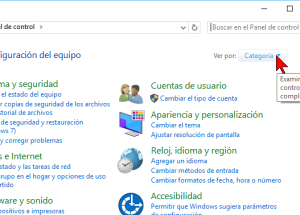Cómo cambiar la visualización del Panel de control en Windows 10