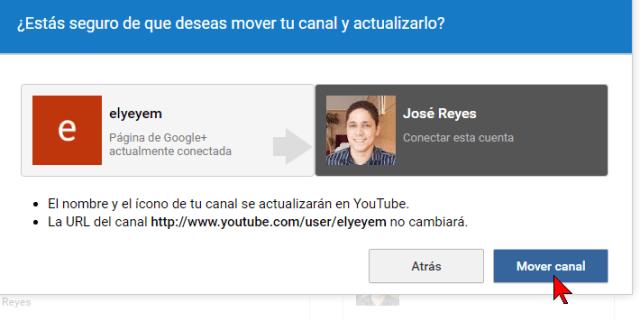 Confirmando la mudanza de canal en cómo transferir un canal de YouTube a otra cuenta