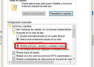 Cómo mostrar las carpetas y archivos ocultos en Windows 10