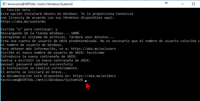 Consola de Linux en Windows 10 en cómo instalar el Linux Bash Shell en Windows 10