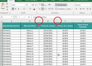Cómo ocultar y mostrar columnas en Excel 2016