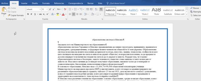 Muestra de un borde aplicado en cómo ponerle un borde a una página de Word 2016
