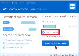 Cómo conectarse a una PC para control remoto con TeamViewer