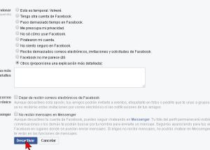 Cómo desactivar una cuenta de Facebook