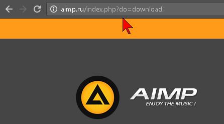 Enlace para la descargar de AIMP