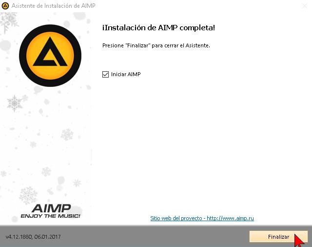 Instalación de AIMP completa