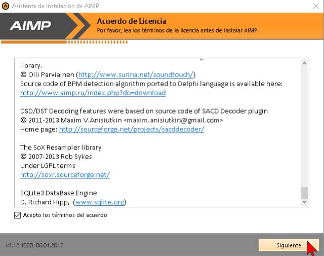Acuerdo de Licencia de AIMP