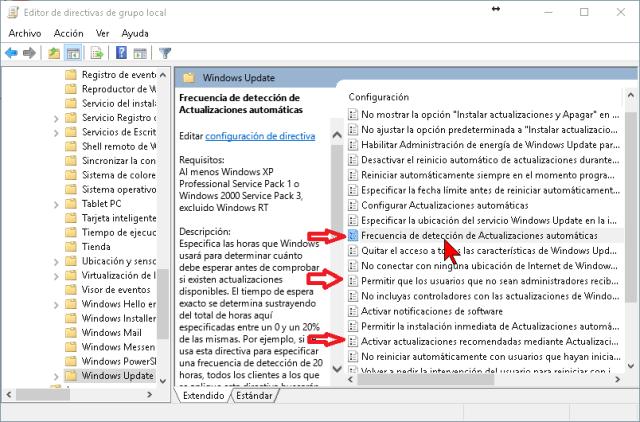 Deshabilitando las otras opciones de actualizaciones en cómo deshabilitar las actualizaciones de Windows Update en Windows 10