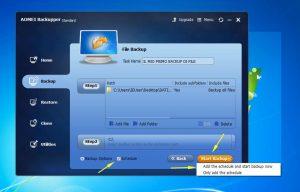 backup schedulato windows file cartelle
