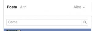 scheda altri messaggi su facebook