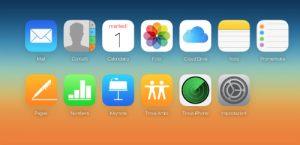 pannello gestione apple su icloud.com