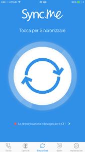 schermata iniziale app sync.me