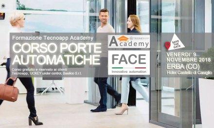 Corso di formazione PORTE AUTOMATICHE in collaborazione con FACE