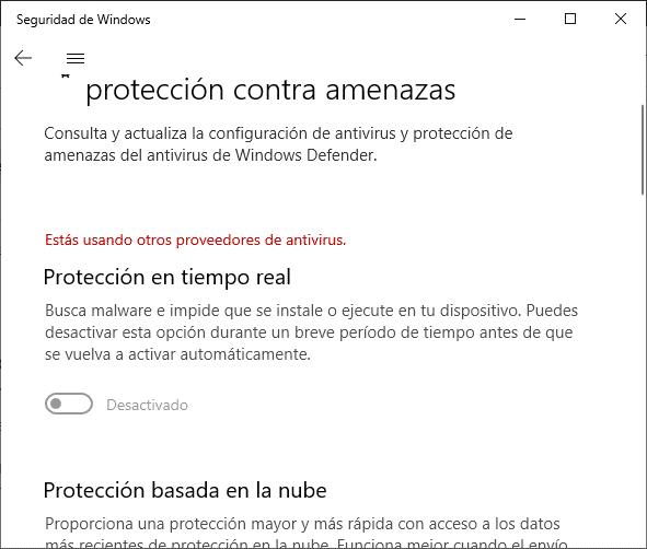 Protección antivirus para la activación de Windows 10