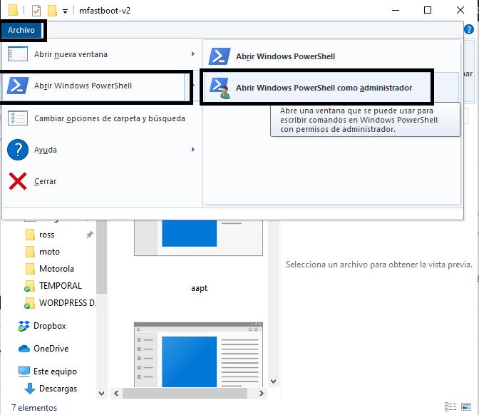 Mfastboot files  terminal