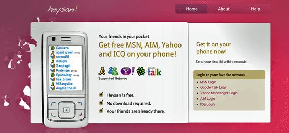 MSN, Yahoo, Google Talk e ICQ pelo celular