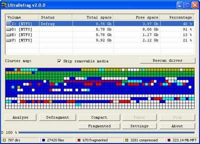 Aumente o desempenho do HD com Ultradefrag