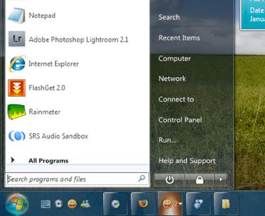Tema do Windows 7 para o XP