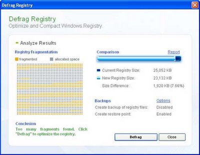 Otimizando o registro do Windows com segurança