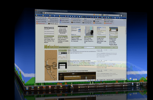 Múltiplas desktops em 3D no Windows