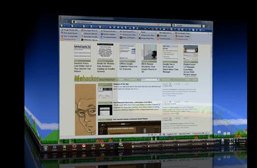 Múltiplas desktops em 3D no Windows