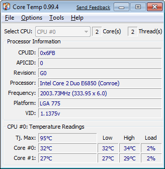 Monitore a temperatura do PC