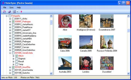 Sincronize o Flickr com uma pasta local
