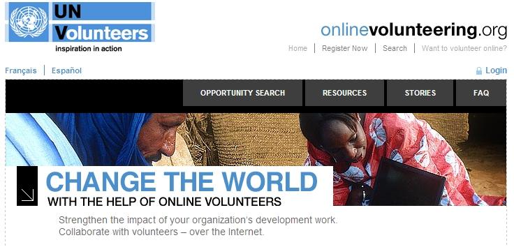 Seja um voluntário da ONU online