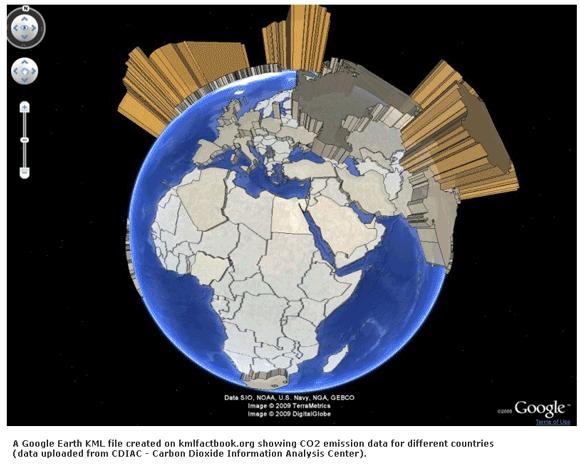 Dados geopolíticos no Google Maps