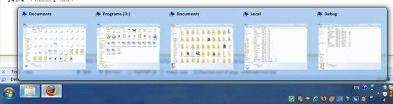 Barra de tarefas do Windows 7 no XP