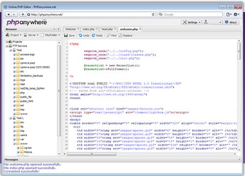 Editor PHP online e grátis