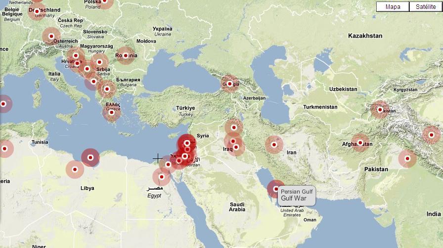 Mapa das guerras da história