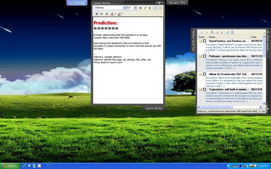 Organize seu desktop com abas laterais