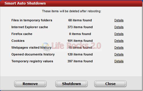 Limpe os temporários ao desligar o computador