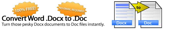 Como converter .DOCX para .DOC online