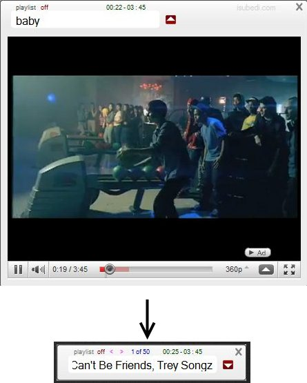 Player do YouTube para desktop