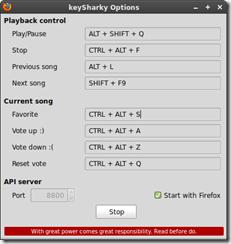 Teclas de atalho para o Grooveshark