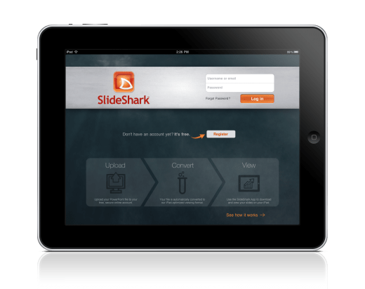 Aplicativo mostra apresentações do PowerPoint no iPad