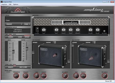 Programa grátis simula um amplificador de guitarra