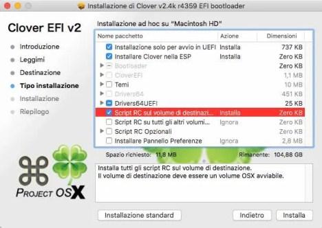 settaggi clover 1 installare bootloader hackintosh