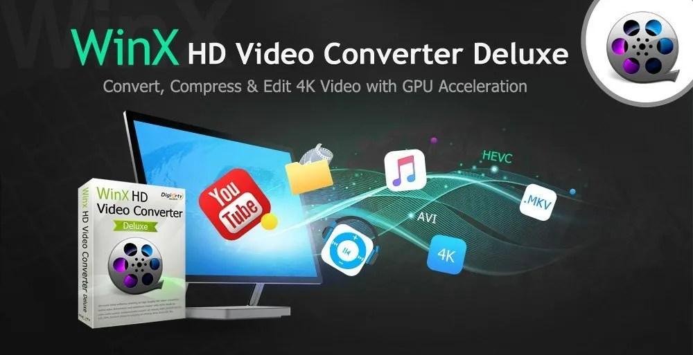 Convertire video 4k con WinX HD Video Converter Deluxe Gratis