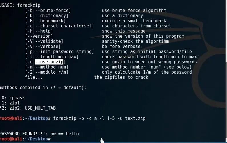 Tecnica per trovare la password di un file zip protetto