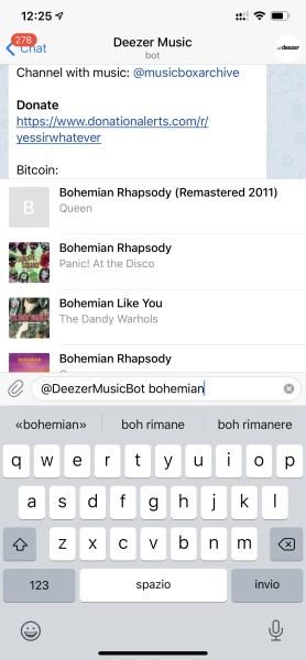 Come scaricare canzoni gratis con Telegram