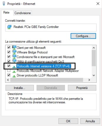 Come cambiare DNS su Windows