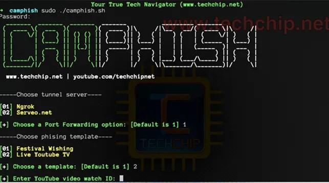 Usare il Phishing per attivare la webcam con CamPhish