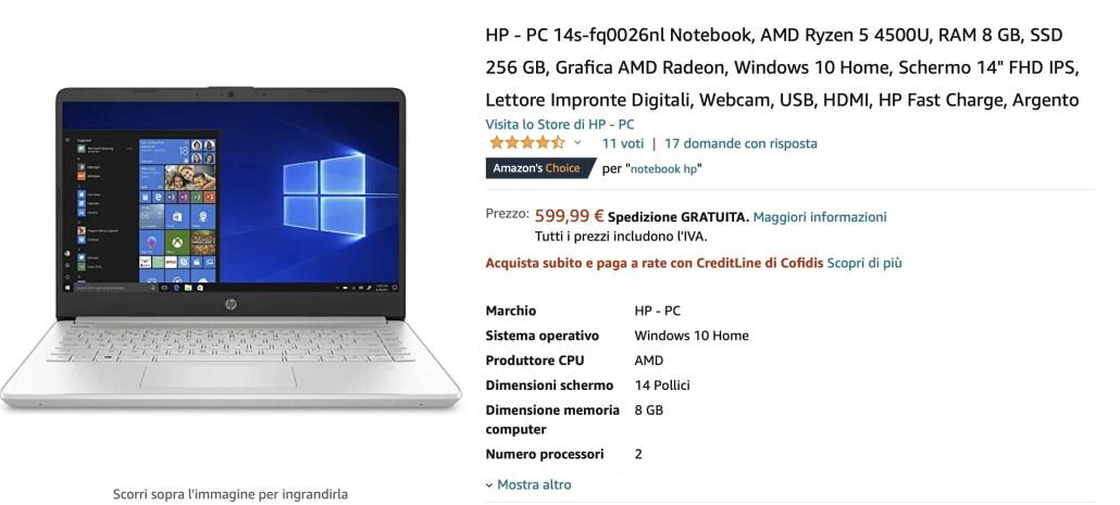 Notebook AMD Ryzen 4000. Guida acquisto [Offerte Gennaio 2021]: Hp 14s