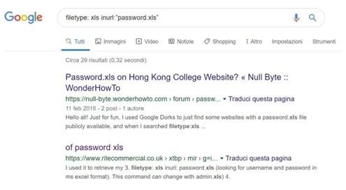 Google Dorks e hacking: tutti i dettagli
