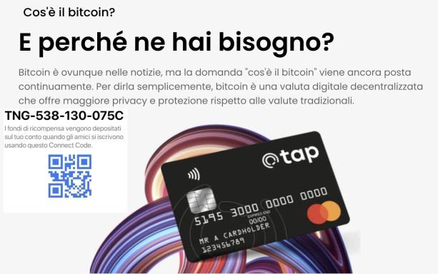 Tap Global: carta e conto con le Crypto in piena facilità