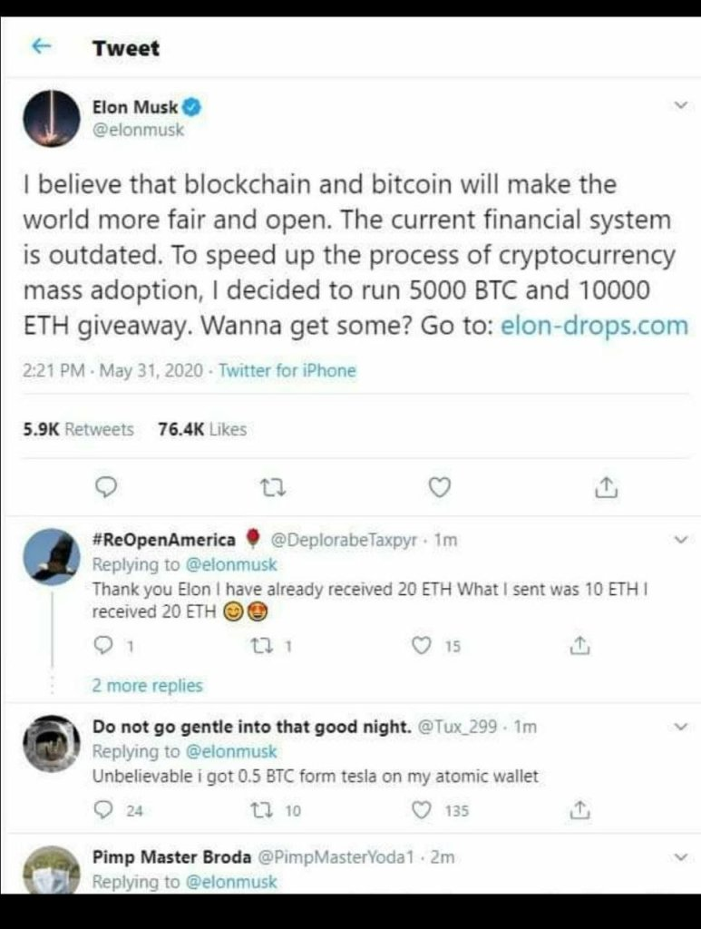 Elon-Drops site is a SCAM. Don't be Fooled 2